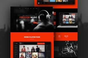 Free Music PSD Website Templates