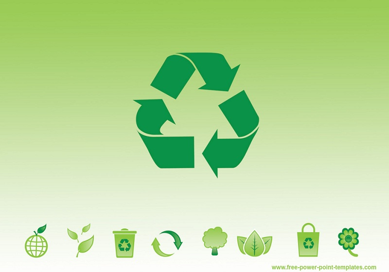 Green Recycling Powerpoint Template