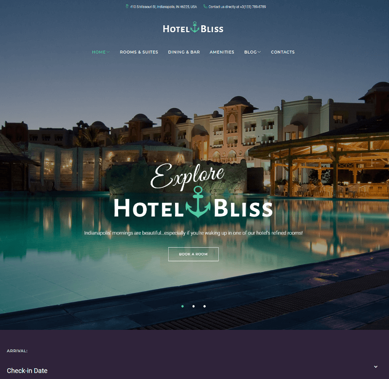 HotelBliss - Spa & Resort Hotel WordPress Theme