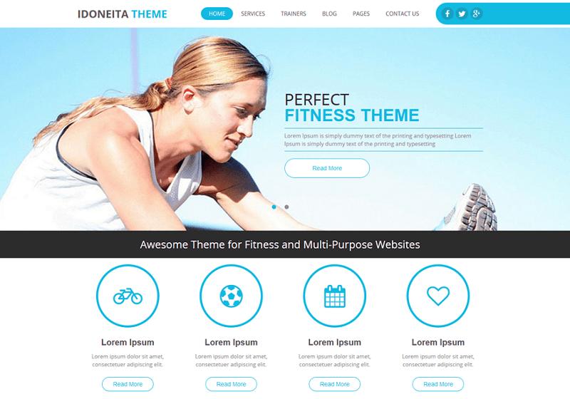 16 Best Free Fitness Gym WordPress Themes 2019