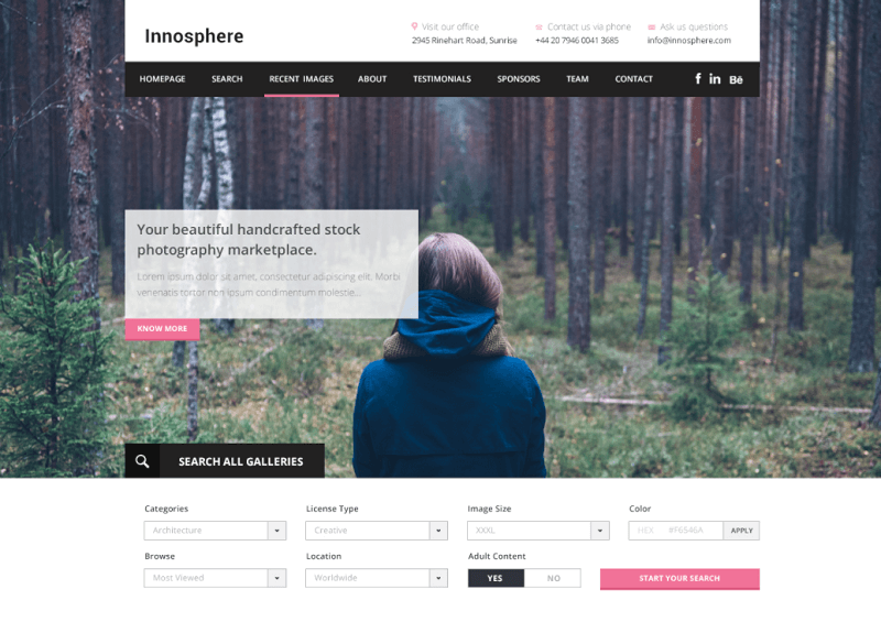 Innosphere – Free One Page Web Template PSD