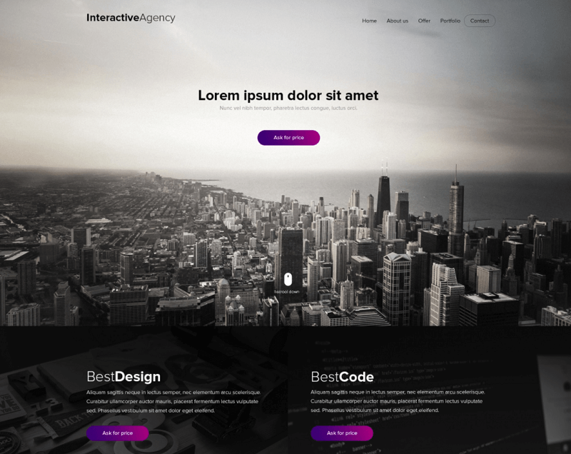 Interactive Agency - PSD template
