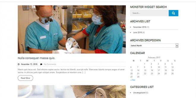 Free Health Medical WordPress Themes