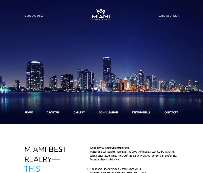 Miami Free PSD Template