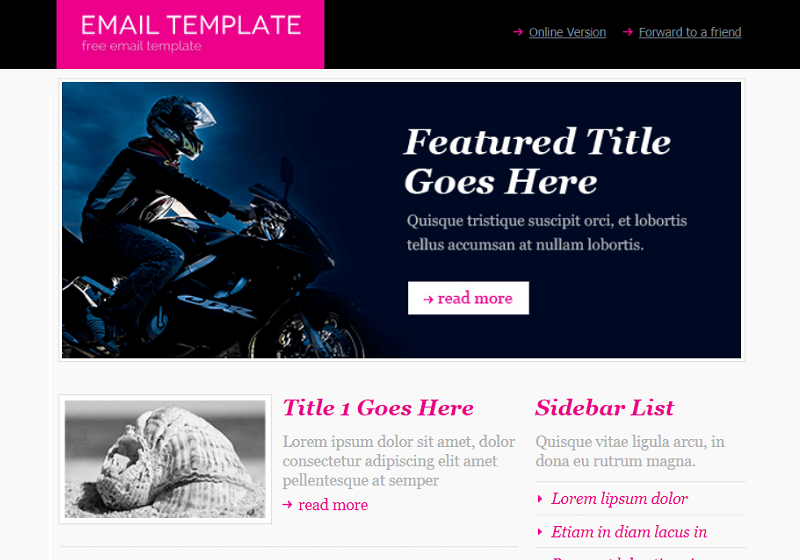 Minimalist Email Template