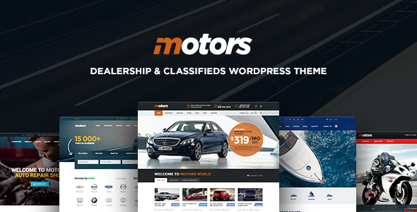 Motors ­- Automotive, Car Dealership, Vehicle, Boat, Bikes, Classified Listing WordPress Theme