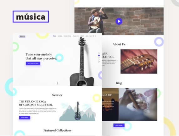 Musica Website Template PSD