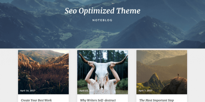 Free SEO Friendly WordPress Themes
