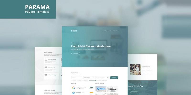 Parama – Free Landing Page PSD Template