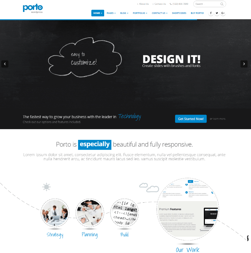 Porto  Responsive WordPress + eCommerce Theme
