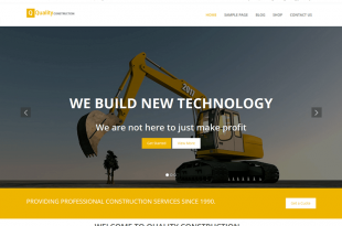 Free Construction Company WordPress Themes