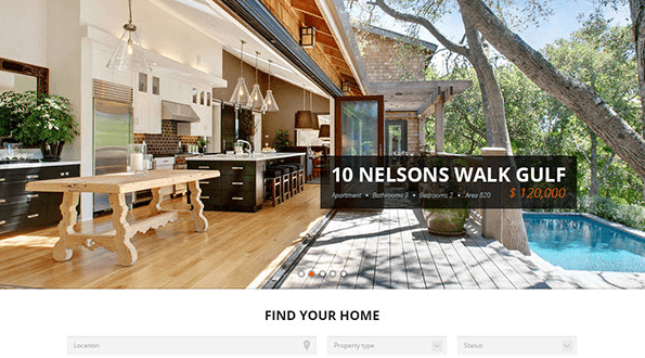 Free Real Estate PSD Website Templates