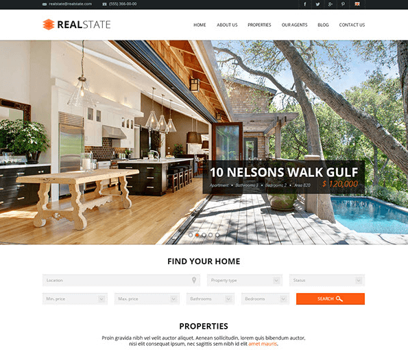 Real State Free PSD Template