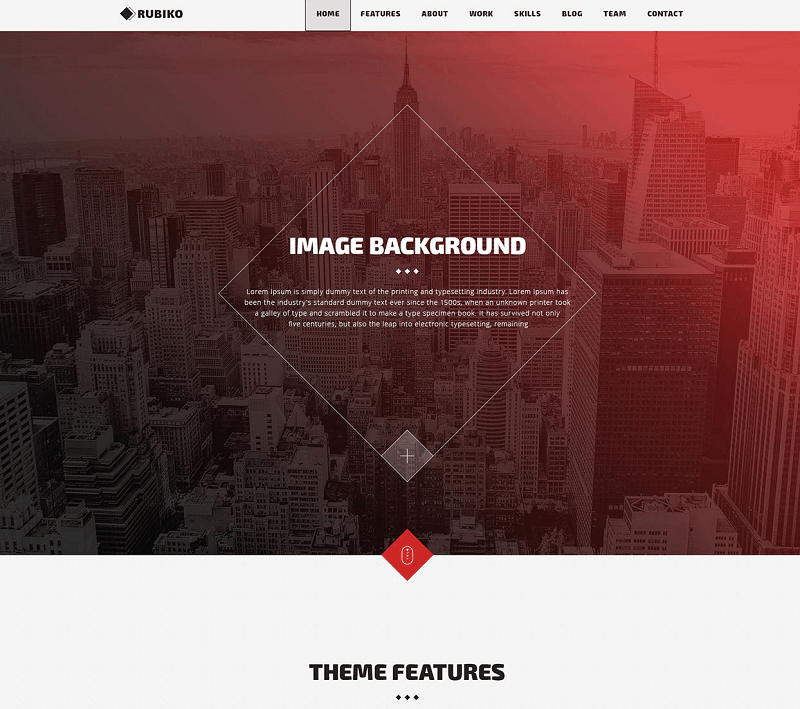 Rubiko One Page PSD Template
