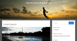 Free Bootstrap WordPress Themes