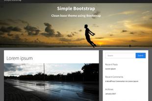 Free Bootstrap WordPress Themes