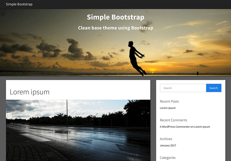 Simple Bootstrap