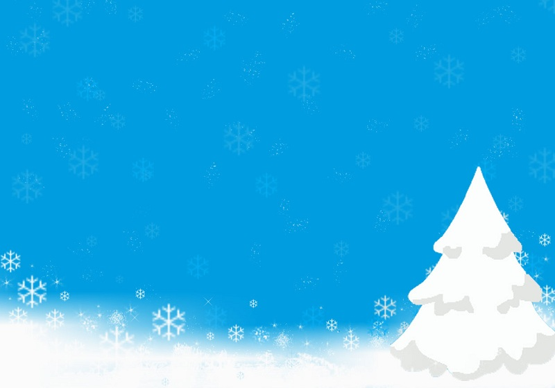 Snow on Christmas PowerPoint Template