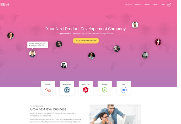 SuMo – Single Page Web Template PSD