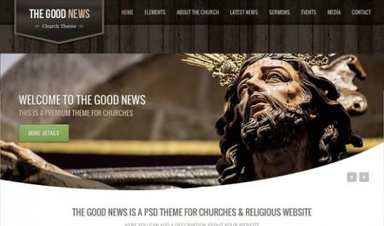 The Good News – Church PSD Theme
