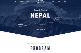 Free Travel Html PSD Website Templates