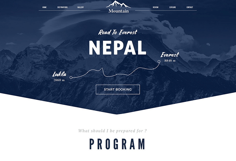 Tour and Travel Booking Website Template Free PSD
