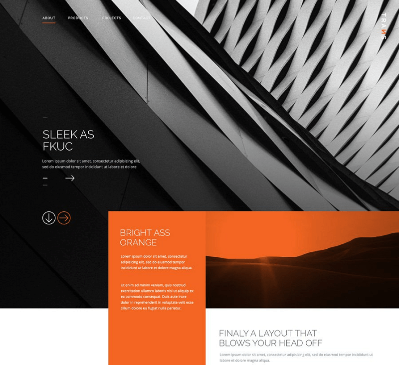 Trans - Free modern PSD website template