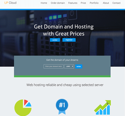 Upcloud Hosting - Free PSD download