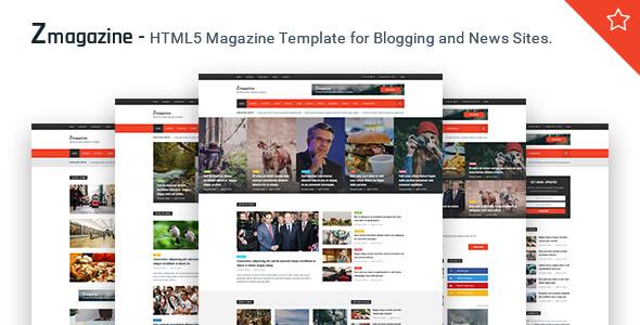 Magazine HTML Website Templates
