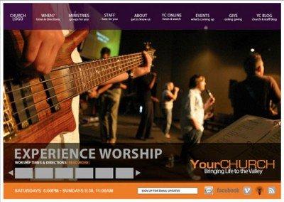 Church Website PSD Template