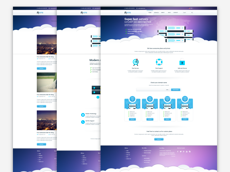 Freebie - Astro,Multipage Hosting Template