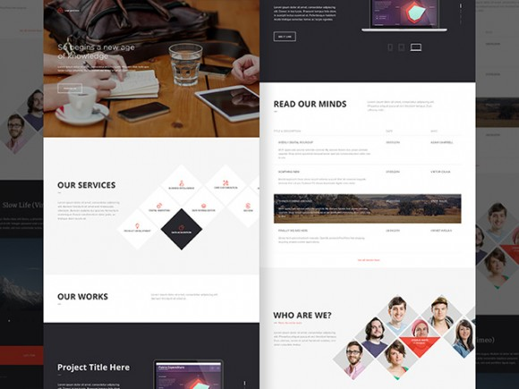 Office Landing Page PSD