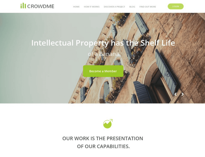icrowdme – A PSD Website Template
