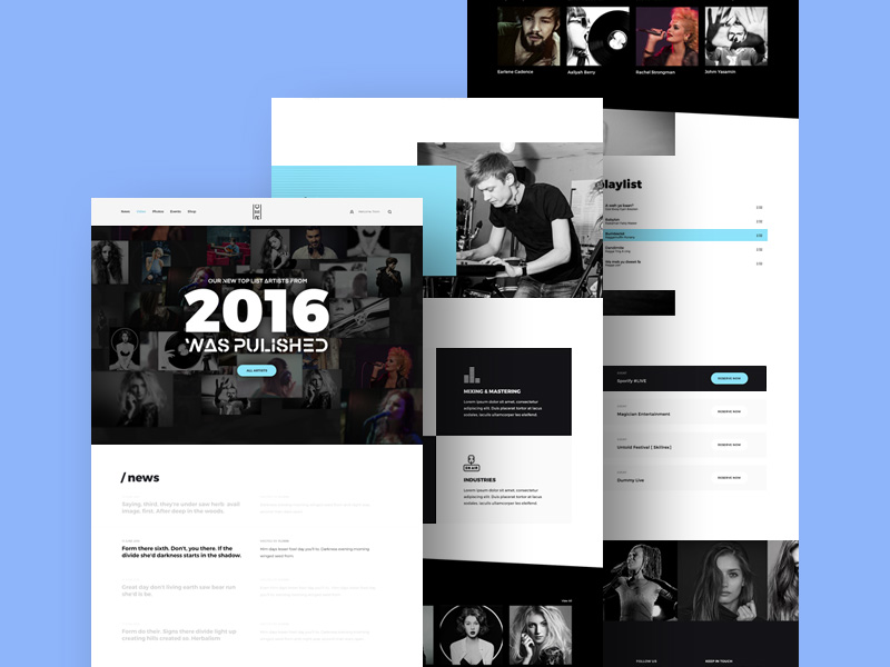15+ Best Free Music PSD Website Templates 2019