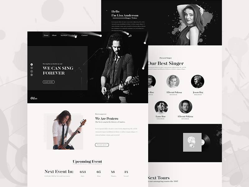 Music PSD Website Template