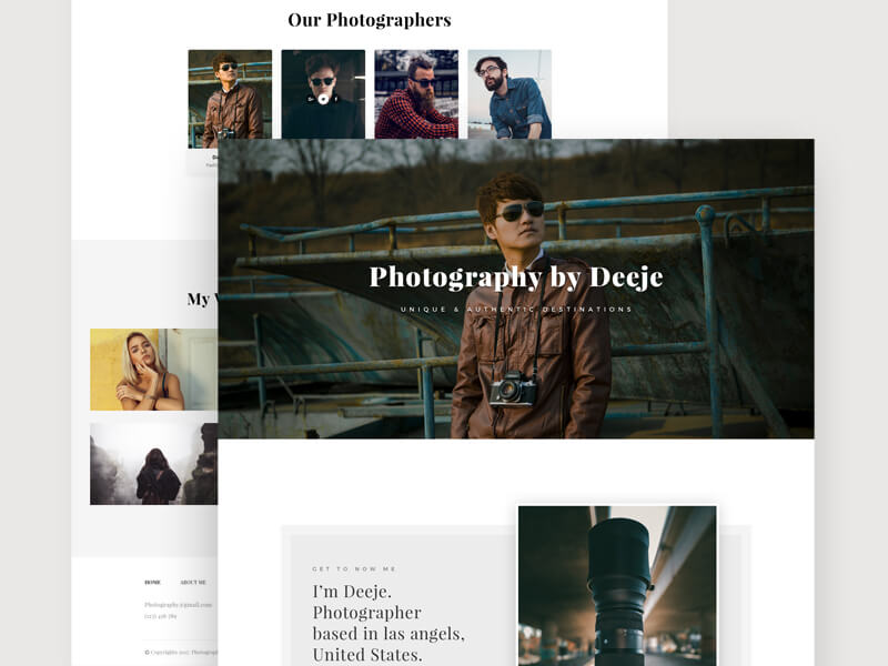 Photography PSD Template