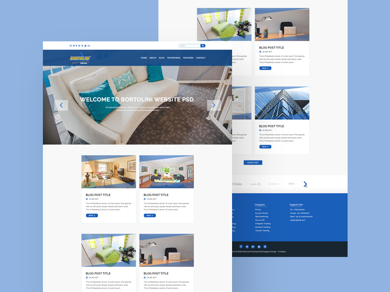 Real State Website Template Free PSD