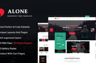 Non Profit PSD Website Templates