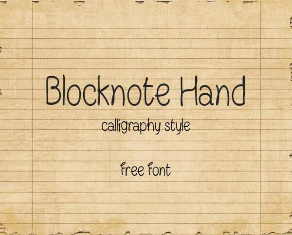 Blocknote Hand
