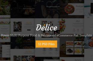 Restaurant PSD Website Templates
