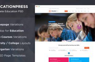 Education PSD Website Templates
