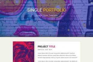 Personal HTML Website Templates