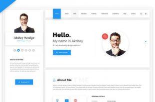 Resume HTML Website Templates