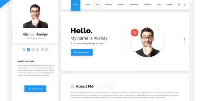 Resume HTML Website Templates