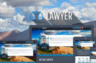 Lawyer PSD Website Templates