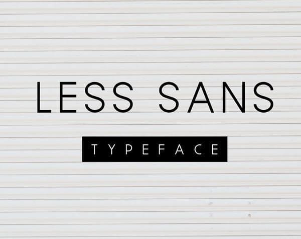 Less Sans