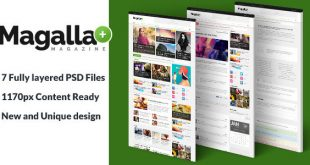 Magazine PSD Website Templates