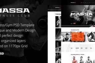 Gym PSD Website Templates