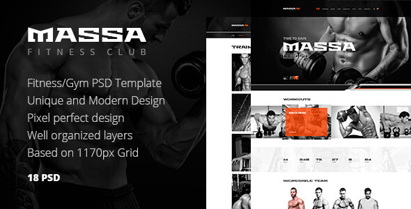 Gym PSD Website Templates