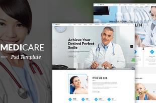 Medical PSD Website Templates